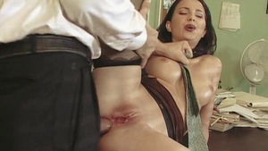 Very hot Majella Shepard & Nick Lang group sex in the kitchen