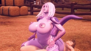 Large boobs girl hentai breeding