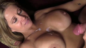 Huge boobs mature jerking BBC and handjob
