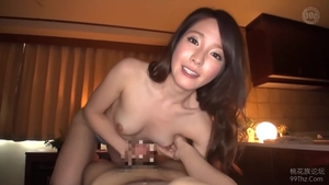 Hairy asian brunette really likes nailed rough in HD