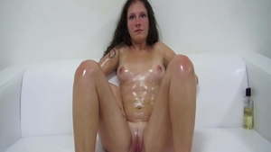Pussy fucking together with petite czech mature