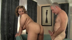 Large tits blonde finds pleasure in hard ramming