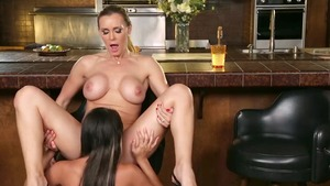 Very hot Tanya Tate & Marina Angel finds dick to fuck porn