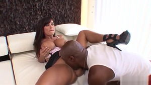 Big boobs brunette Lisa Ann goes in for rough nailing