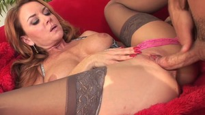 Hard rough sex escorted by trimmed pussy cougar Janet Mason